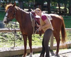 Katharina mit Pferd